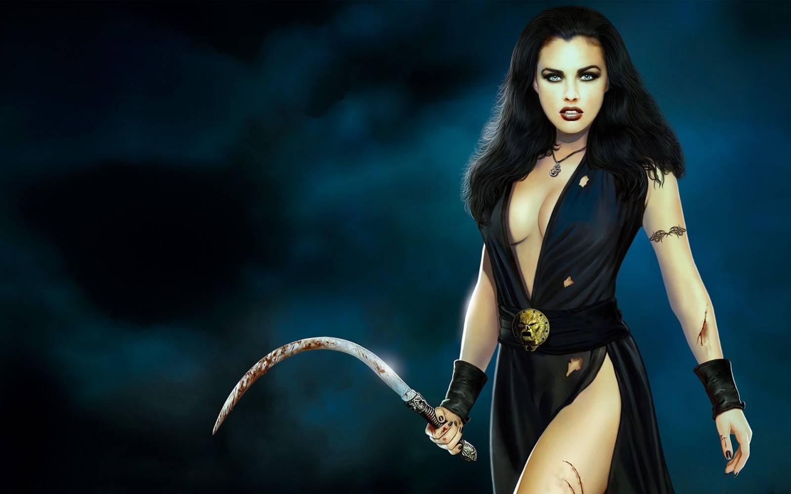Сексуальные девушка с мечом 22 фотография